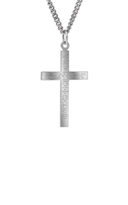 Albert's Sterling Silver Our Father Prayer Cross Necklace MC262 product image