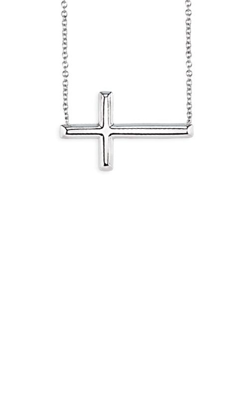 Albert's Sterling Silver Sideways Cross Necklace MF020551-92B_18 product image
