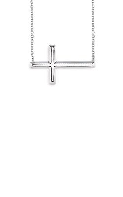 Albert's Sterling Silver Sideways Cross Necklace MF020551-92B 18 product image