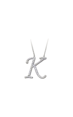Sterling Silver Initial Letter K Necklace MF023385-92B product image