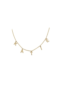 Albert's 14k 7mm Hanging Letter Nameplate Necklace MF999974-14Y product image