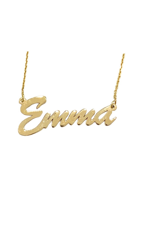 Albert's 14k 5mm Script Nameplate Necklace MF999991-14Y product image