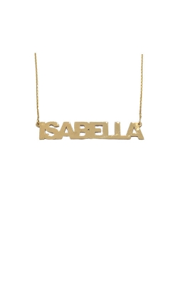 Albert's 14k 7mm Block Nameplate Necklace MF999996-14Y product image