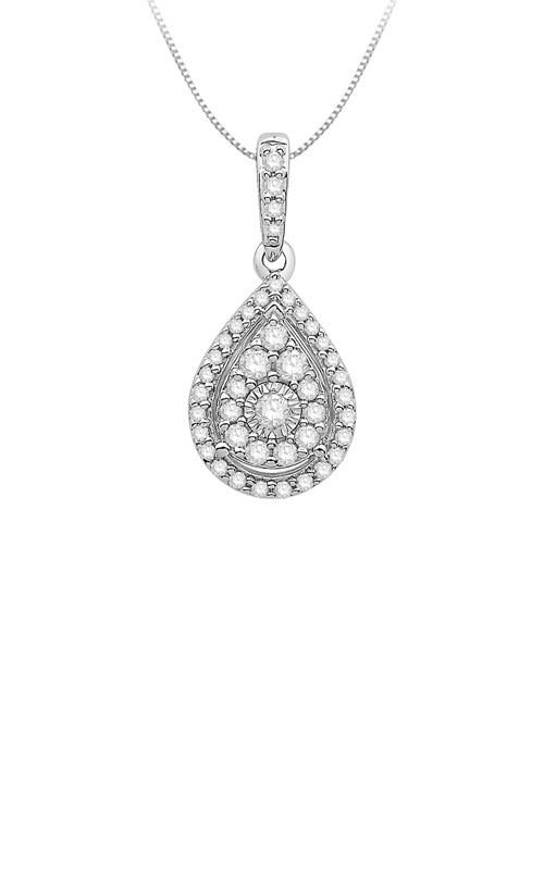 Albert's 10k White Gold 0.25ctw Diamond Necklace MJNY1535 product image