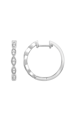 Albert's 10k White Gold .20ctw Diamond Hoop Earrings MJNY1581 product image