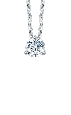 Albert's 14k White Gold 1/3ctw Diamond Solitaire Necklace MSP2 product image