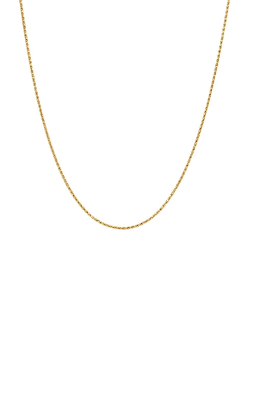 14k Yellow Gold 20in 1.05mm Round Wheat Chain MZ002067-14Y_20 product image