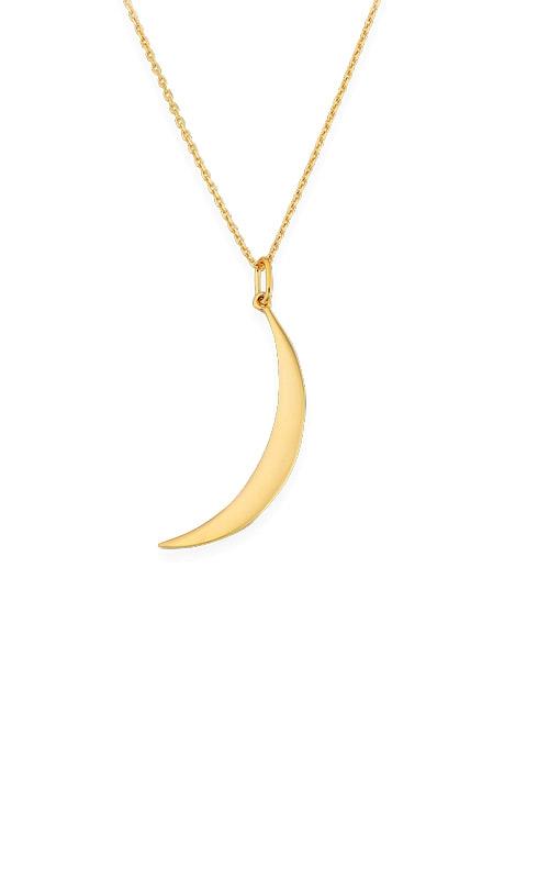 Albert's 14k Yellow Gold Moon Pendant N503-18 product image