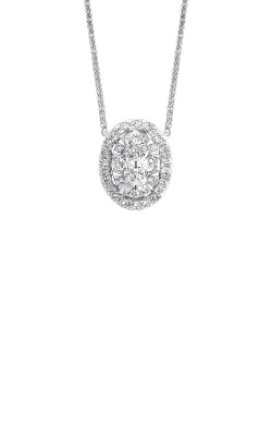 Albert's 14k White Gold 1/4ctw Oval Diamond Pendant NK10077-4WC product image