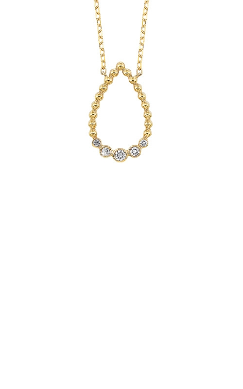 Albert's 14k Yellow Gold 1/8ctw Diamond Necklace NK10108-4YC product image