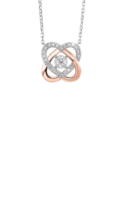 Albert's 14k White And Rose Gold 1/3ctw Diamond Necklace NK10170-4WPC product image
