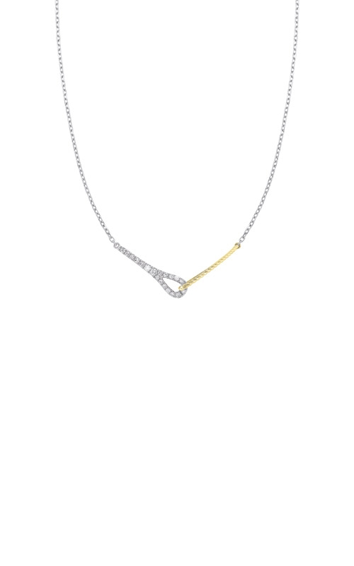Albert's 14k White and Yellow 1/5ctw Diamond Necklace NK10173-4WYC product image