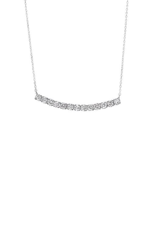 Albert's 14k White Gold 1/2ctw Diamond Bar Necklace NK10186-4WC product image