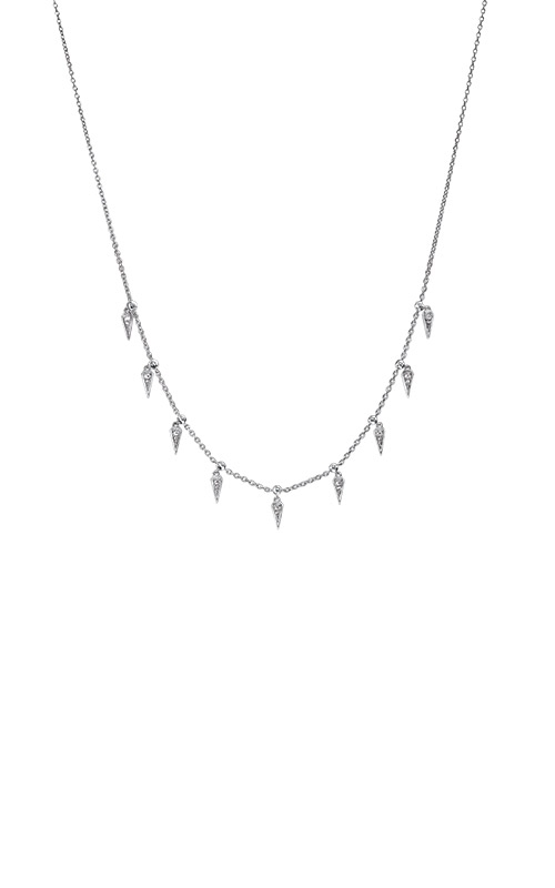 Albert's Sterling Silver 1/10ctw Diamond Necklace NK10191-SSD product image