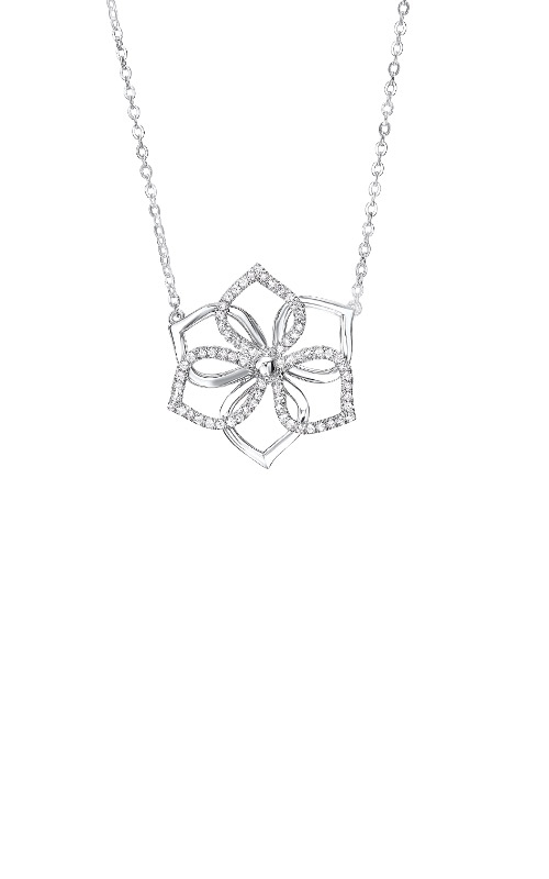 Albert's Sterling Silver 1/5ctw Diamond Necklace NK10194-SSD product image