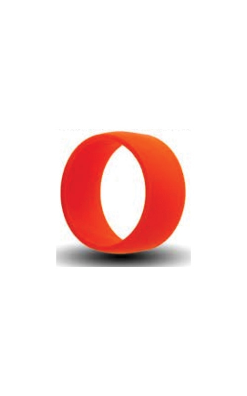 Albert's Orange Silicone Band Size 11 SILICONE11-ORANG product image