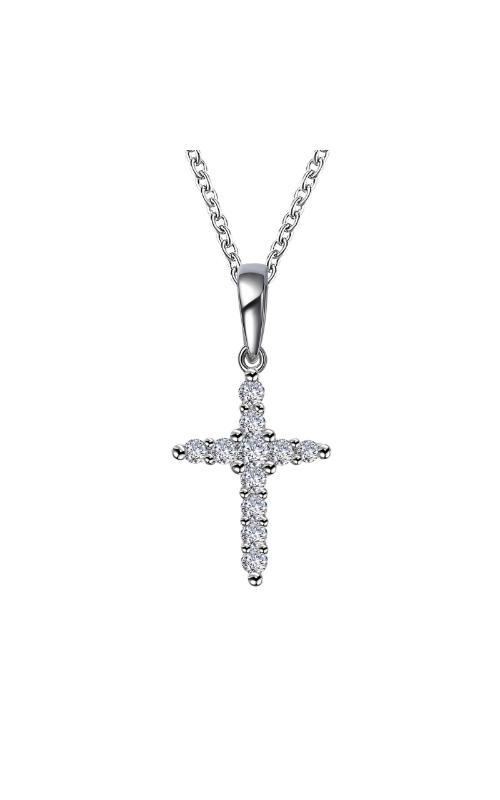 Albert's Sterling Silver CZ Cross Necklace P0244CLP20 product image