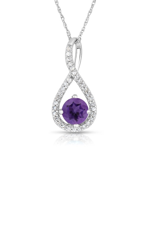 Albert's Sterling Silver Amethyst Necklace P2718-AM-SS product image