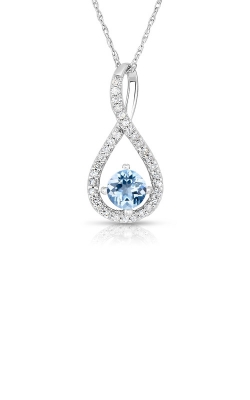 Albert's Sterling Silver Aquamarine Necklace P2718-AQ-SS product image