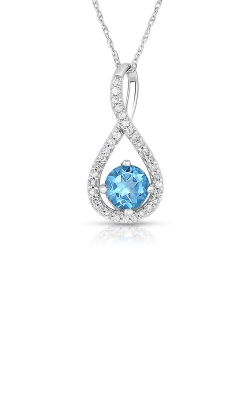 Albert's Sterling Silver Diamond Blue Topaz Necklace P2718-BLTPZ-SS product image