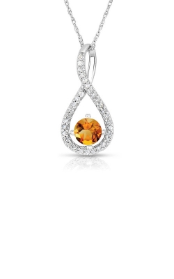 Albert's Sterling Silver Citrine Necklace P2718-CIT-SS product image
