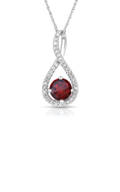 Albert's Sterling Silver Garnet Necklace P2718-GAR-SS product image
