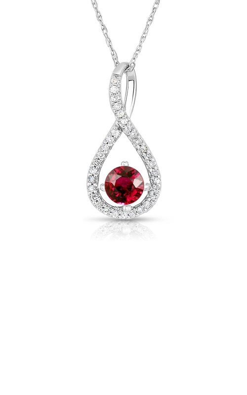 Albert's Sterling Silver Ruby Necklace P2718-RUBY-SS product image