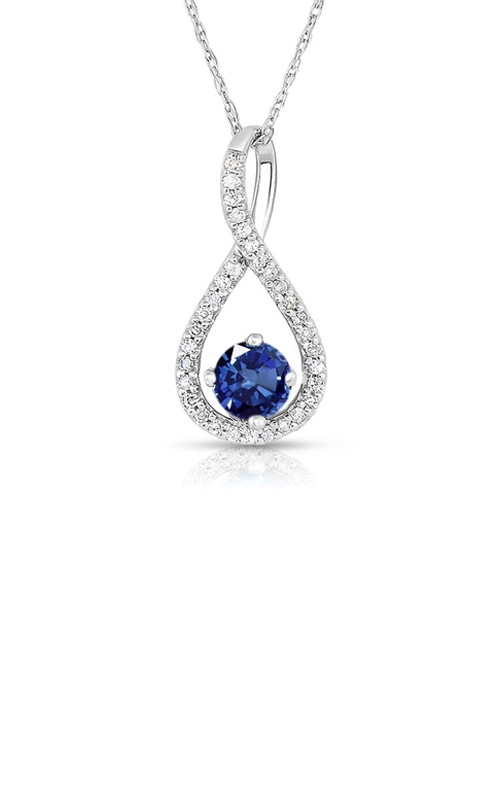 Albert's Sterling Silver Blue Sapphire Necklace P2718-SAPH-SS product image