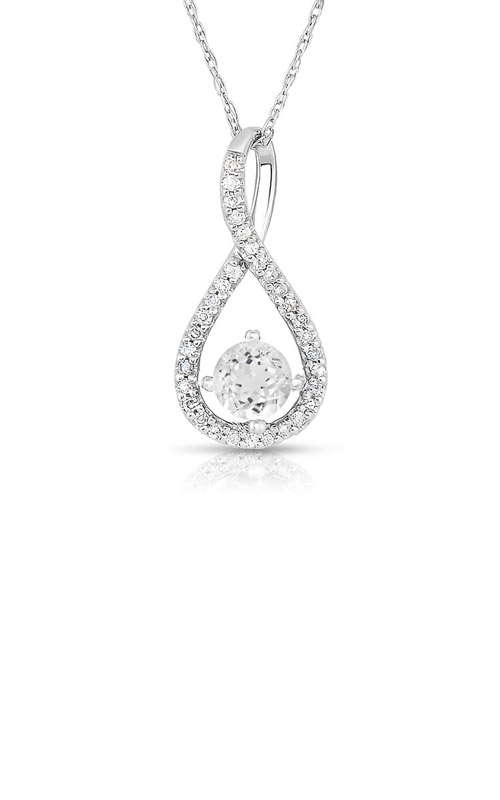 Albert's Sterling Silver White Topaz Necklace P2718-WHTZ-SS product image