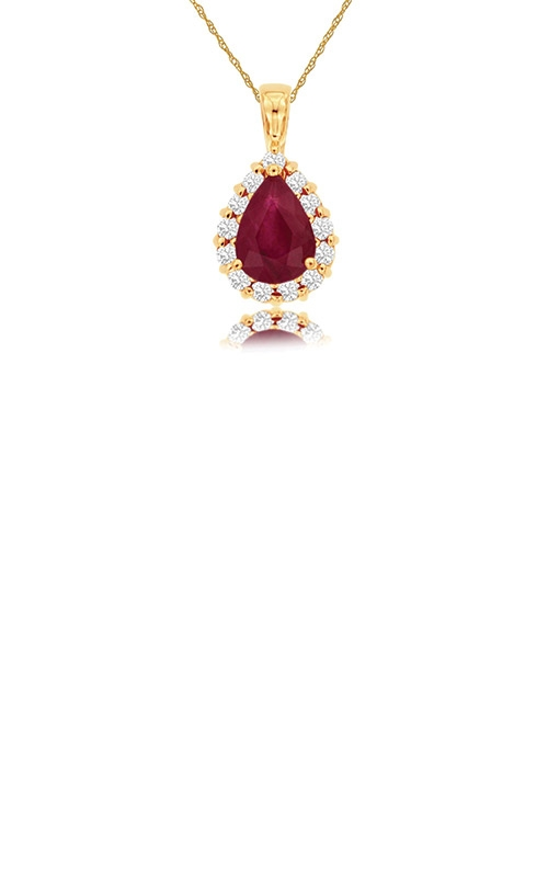 Albert's 14k Yellow Gold 1.42ctw Ruby and Diamond Necklace P3826RB product image