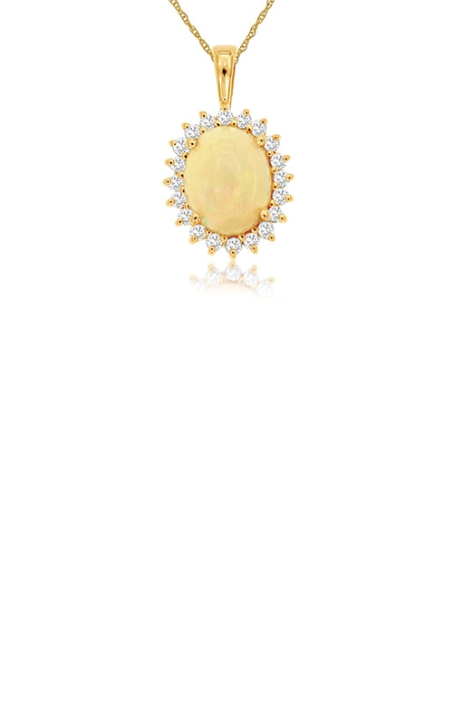 Albert's 14k Rose Gold 2.36 Opal and Diamond Necklace PP3844F product image