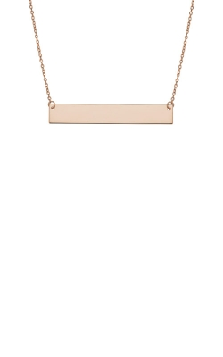 Albert's 14k Rose Gold Bar Necklace PBAR25-18 product image