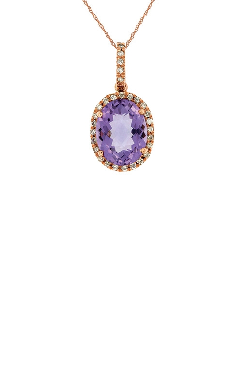 Albert's 14k Rose Gold 2.88ctw Amethyst Diamond Necklace PC4523A product image