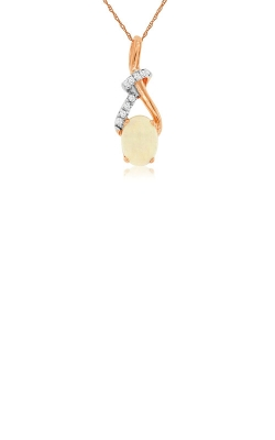Albert's 14k Rose Gold .56ctw Opal And Diamond Necklace PC6058F product image