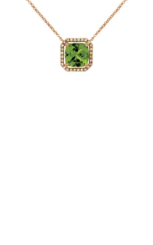 Albert's 14k Rose Gold 2.14ctw Peridot and Diamond Necklace PC6138X product image
