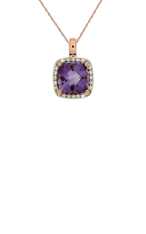 Albert's 14k Rose Gold 2.33ctw Amethyst Diamond Necklace PC6154A product image