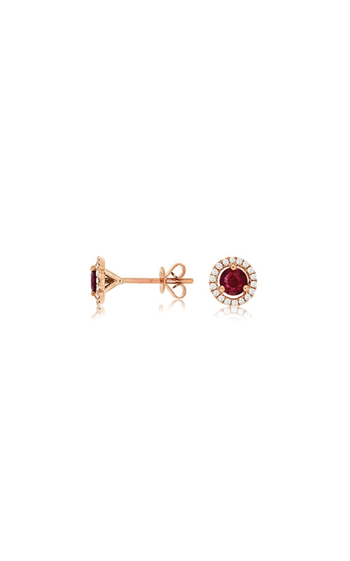 Albert's 14k Rose Gold .95ctw Ruby and Diamond Earrings PC6404R product image