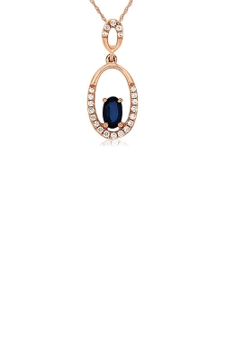 Albert's 14k Rose Gold .40ctw Blue Sapphire And Diamond Necklace PC6485S product image