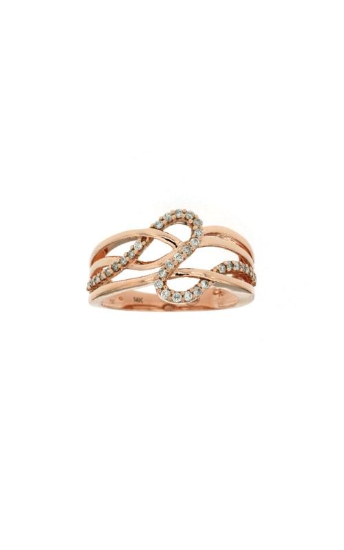 Albert's 14k Rose Gold .28ctw Diamond Swirl Fashion Ring PC6516D  product image