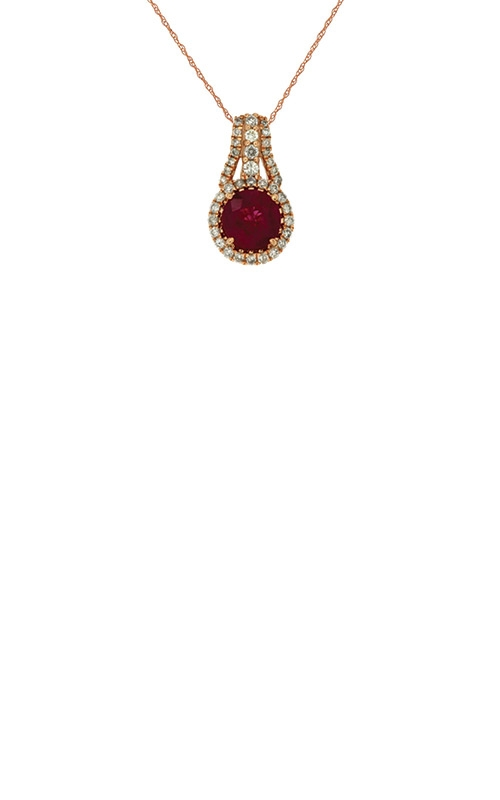 Albert's 14k Rose Gold .97ctw Ruby and Diamond Necklace PC6542R product image