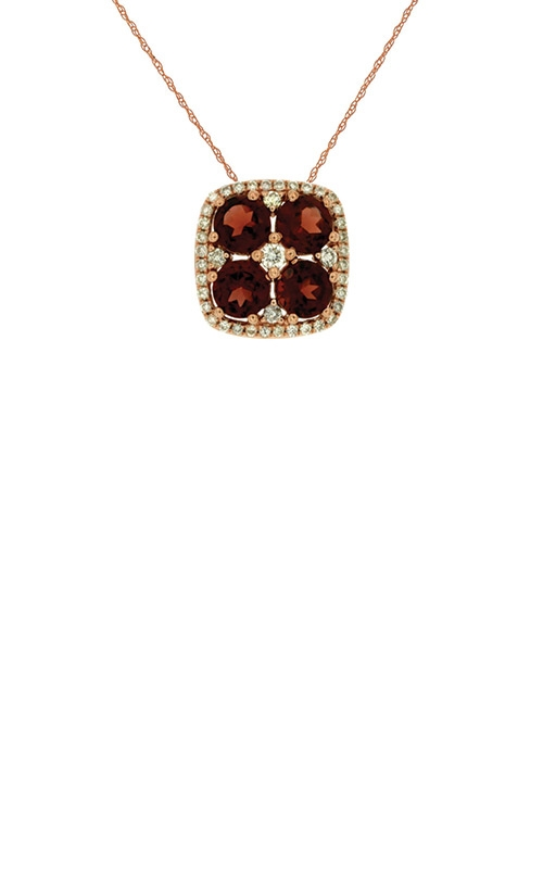 Albert's 14k Rose Gold 1.38ctw Garnet and Diamond Necklace PC6804N product image