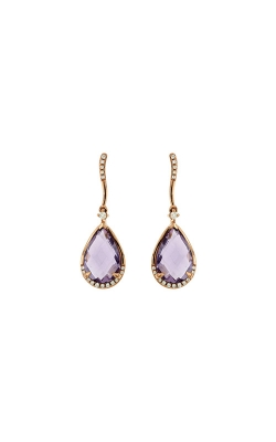 Albert's 14k Rose Gold 4.62ctw Amethyst And Diamond Earrings PC6954A product image