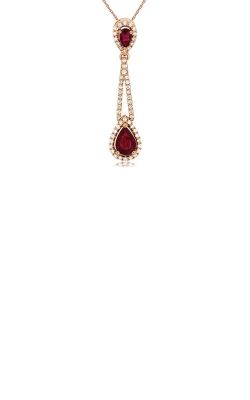 Albert's 14k Rose Gold 1.32ctw Ruby And Diamond Necklace PC7164R product image