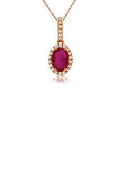 Albert's 14k Rose Gold 1.02ctw Ruby And Diamond Necklace PC8644R product image