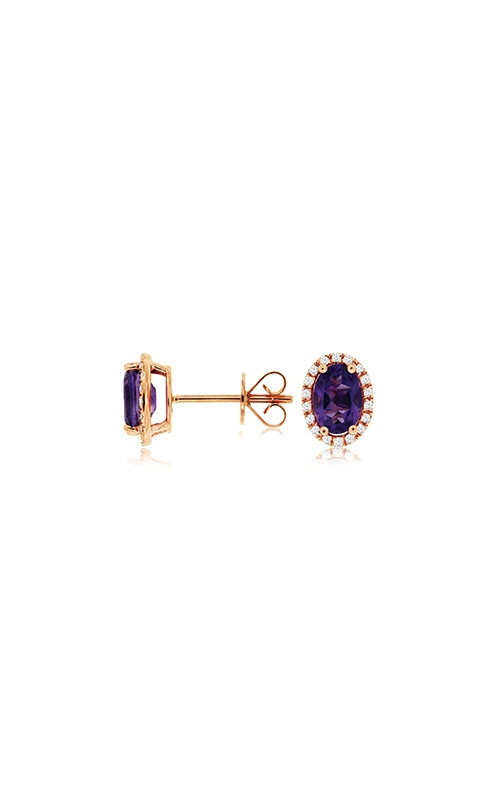 Albert's 14k Rose Gold 1.59ctw Amethyst and Diamond Earrings PC8645A product image
