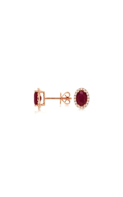 Albert's 14k Rose Gold 1.99ctw Ruby And Diamond Earrings PC8645R product image