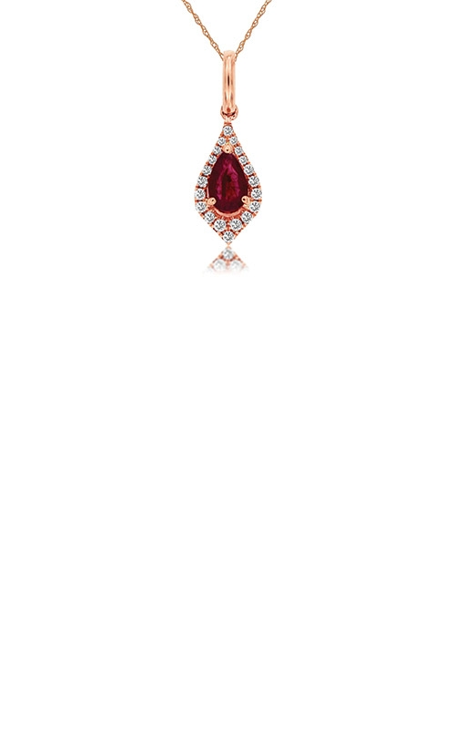 Albert's 14k Rose Gold .52ctw Ruby and Diamond Necklace PC8830R product image