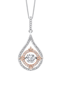Albert's Necklace Silver and Rose Drop Necklace PD10228-SS product image