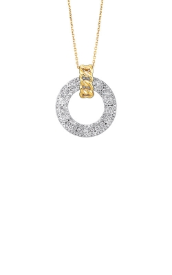 Albert's 14k White and Yellow Gold 3/4ctw Diamond Necklace PD10357-4WYC product image