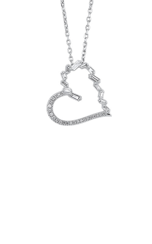 Albert's 14k White Gold 1/7ctw Heart Necklace PD10362-4WCSC product image